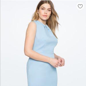 Eloquii Dresses - Eloquii Pleated Neckline Sheath Dress NWT Size 14